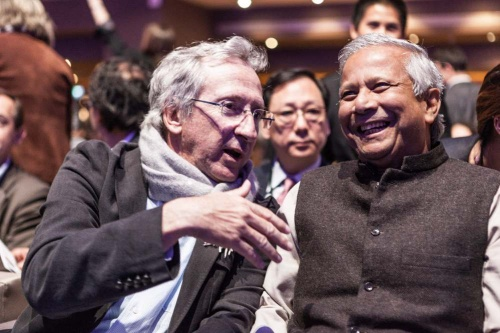 Pr Muhammad Yunus and Franck Riboud met for the first time